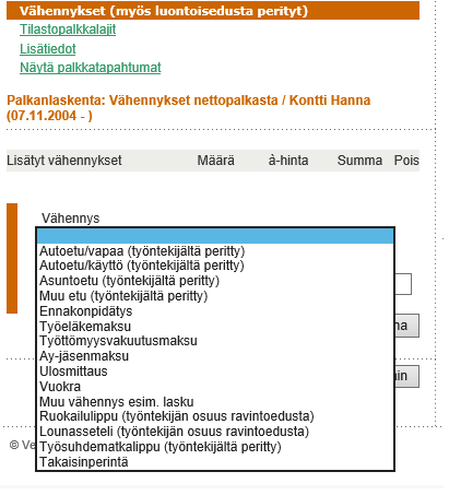 Ulosotto Palkka